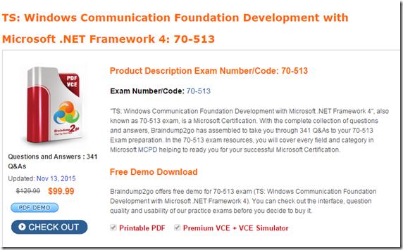 Exam 70-513 Pdf