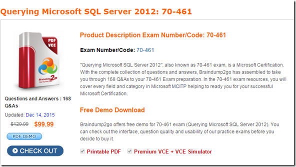 sql certification dumps pdf