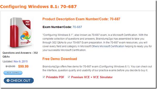 70-687 pdf Braindumps Free Study