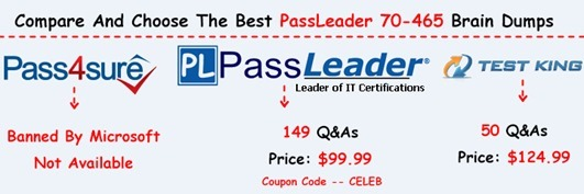 PassLeader 70-465 Brain Dumps[26]