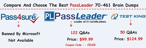 PassLeader 70-461 Brain Dumps[16]