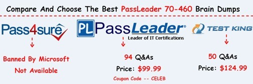 PassLeader 70-460 Exam Dumps[15]