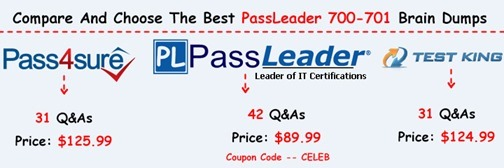 PassLeader 700-701 Brain Dumps[17]