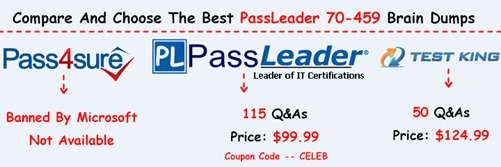 PassLeader 70-459 Exam Dumps[23]
