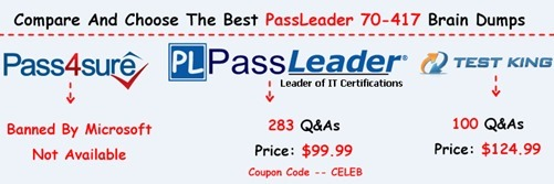 PassLeader 70-417 Brain Dumps[25]